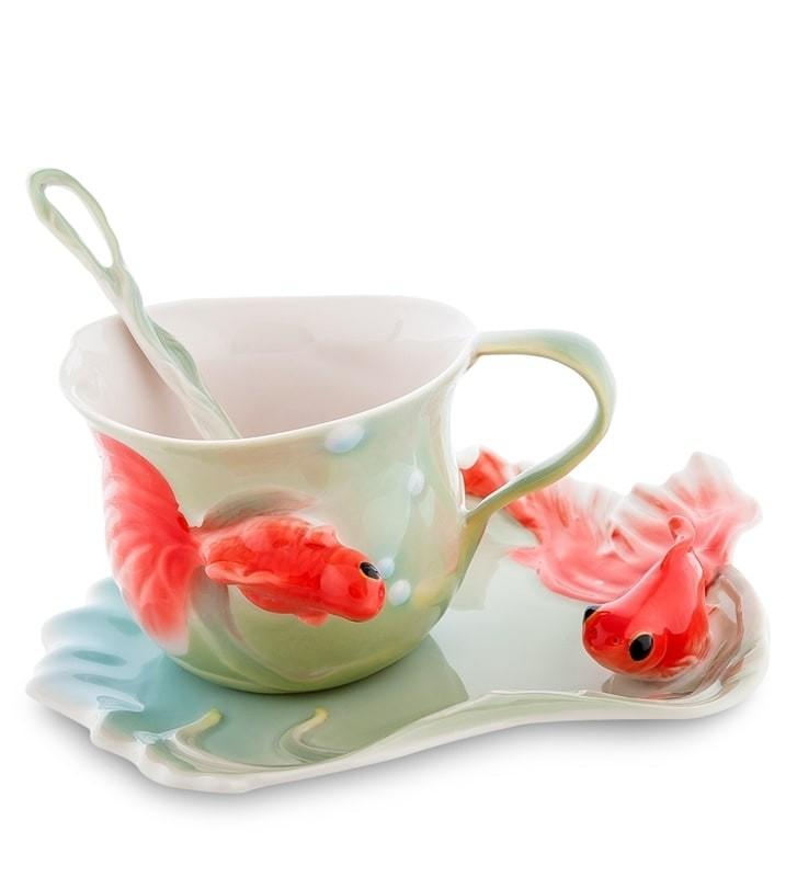 Чайная пара Pavone FM-01/30 Золотые рыбки