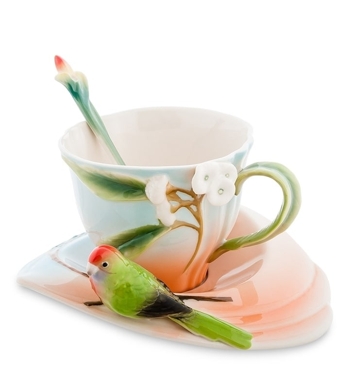 Чайная пара Pavone FM-79/ 2 Попугай Розелла