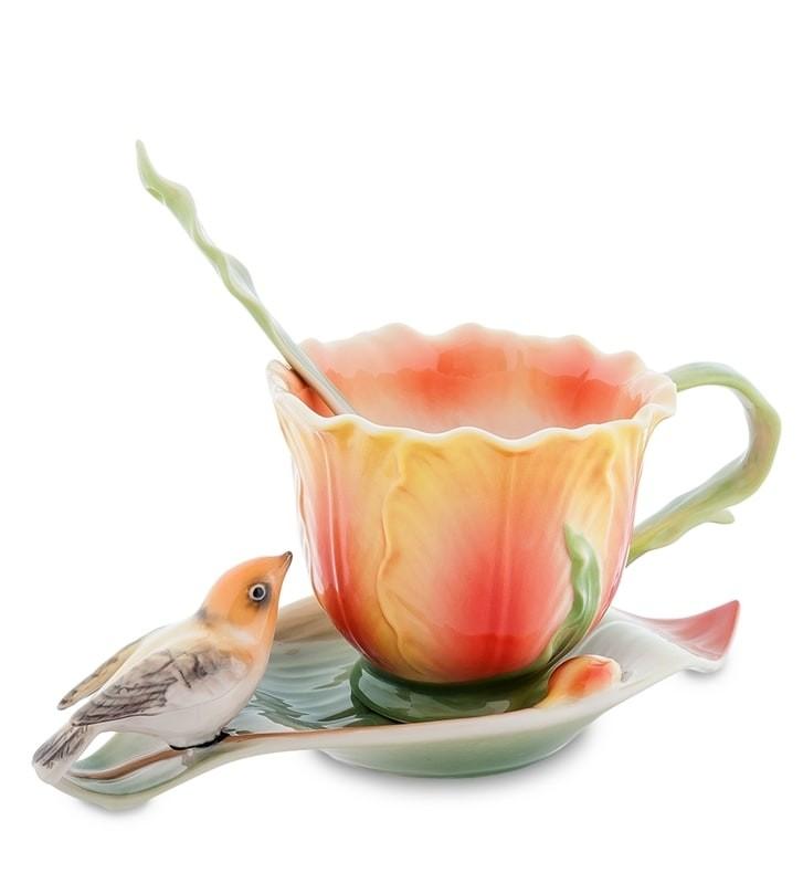 Чайная пара Pavone FM-83/ 5 Тюльпаны