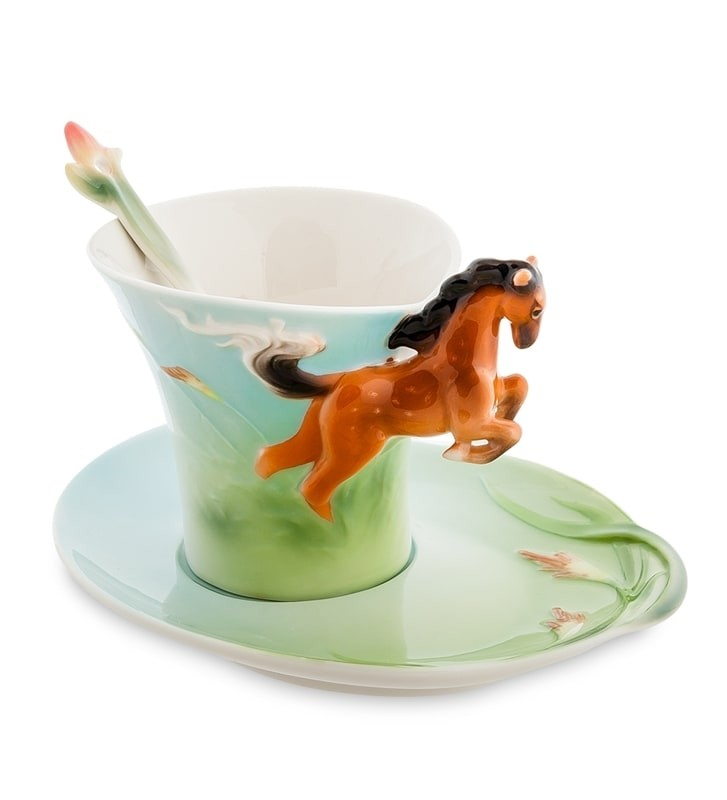 Чайная пара Pavone FM-70/ 1 Лошадь