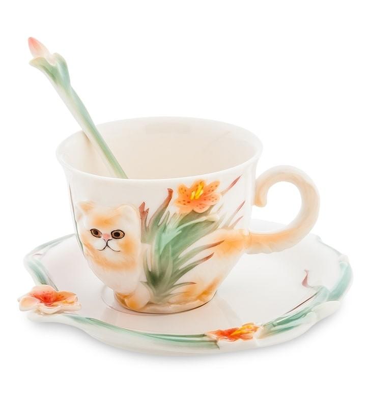 Чайная пара Pavone FM-69/ 3 Персидский кот