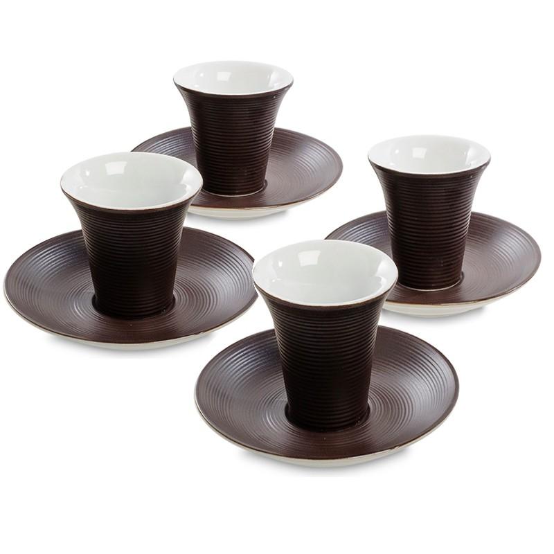 Кофейный набор FD-20 на 4 персоны Колумбия для двоих коричневый