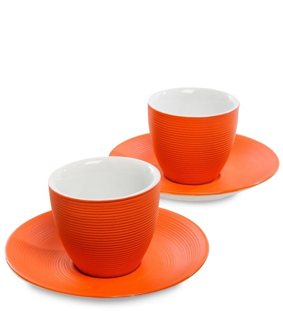 Кофейный набор FD-17 на 2 персоны Колумбия для двоих оранжевый