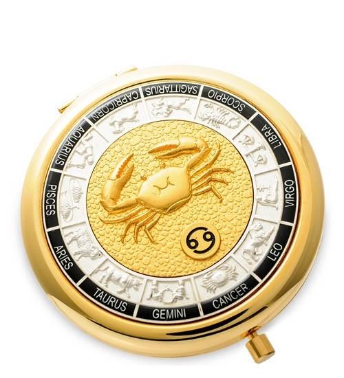 Зеркало золотое WIN- 01- 2 Знак Зодиака - Рак