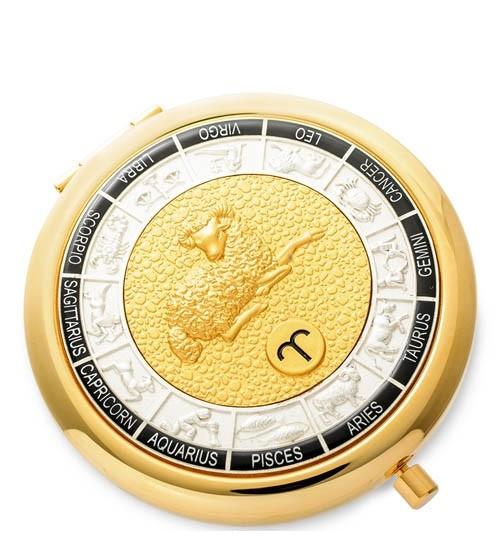 Зеркало золотое WIN- 01- 8 Знак Зодиака - Овен