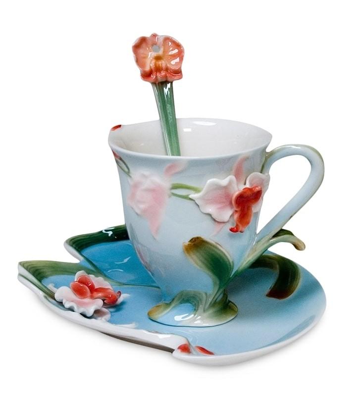 Чайная пара Pavone FM-01/12 Орхидея