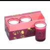 Набор из 3 свечей ароматизированных WD-16/ 1 Базилик и мандарин в подарочной коробке