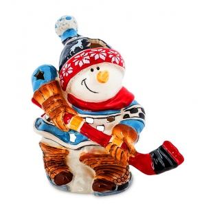 Подсвечник Pavone BS-546 Снеговик-хоккеист