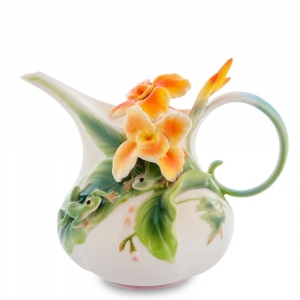 Заварочный чайник Pavone FM-82/ 1 Лягушки и цветы канны