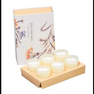 Набор из 6 свечей ароматизированных WD-02/ 2 Цитрус и шалфей в подарочной коробке