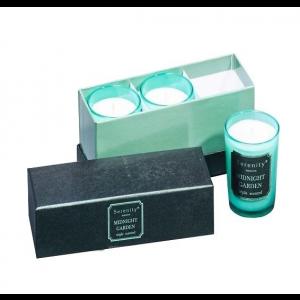 Набор из 3 свечей ароматизированных WD-14/ 1 Сад в полночь в подарочной коробке