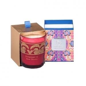 Свеча ароматизированная WD-06/ 2 Франжипан и лепестки роз в подарочной коробке