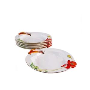 Набор ALF 55-006 из 6-ти тарелок Маки 25,5 х 23,3 х 3,5 см