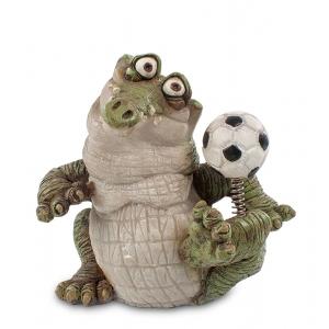 Статуэтка маленькая Sealmark CD-7124-SC Крокодил Футболист
