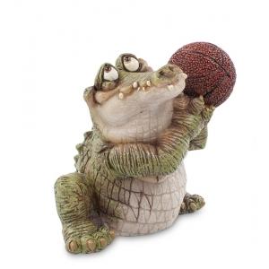 Статуэтка маленькая Sealmark CD-7123-SC Крокодил Баскетболист