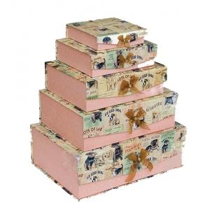 Комплект коробок из 5шт WA-48-13 Шкатулка