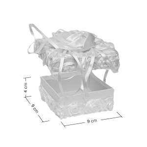 Коробка WB-23 квадратная Белоснежный бутон